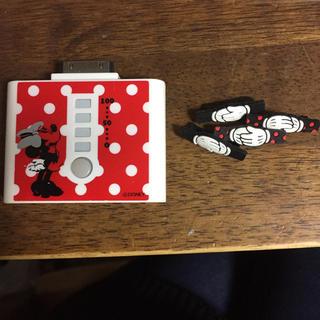 ディズニー(Disney)のiPhone4s モバイルバッテリー 充電カバー 充電器 ディズニー ミニー(バッテリー/充電器)