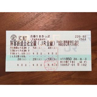 ジェイアール(JR)の青春18きっぷ 4回分(鉄道乗車券)