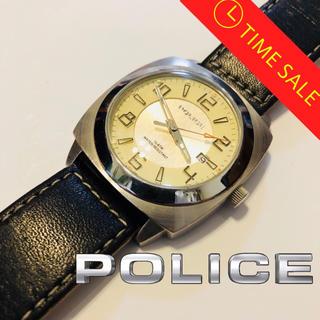ポリス(POLICE)の正規品POLICE動作保証品【大感謝祭】人気の三針デイト☆ブラック×シルバー(腕時計(アナログ))