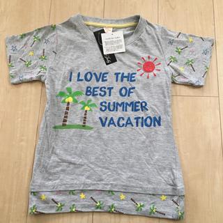シマムラ(しまむら)の【新品】タグ付き 140 グレーTシャツ(Tシャツ/カットソー)