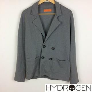 ハイドロゲン(HYDROGEN)の美品 ハイドロゲン 長袖テーラードジャケット グレー サイズS(テーラードジャケット)