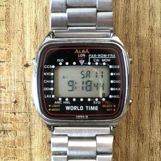 アルバ(ALBA)の【OLD SEIKO ALBA】 WORLD TIME(腕時計(デジタル))