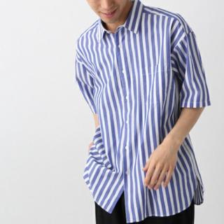 RAGEBLUE - RAGEBLUE ストライプシャツ 半袖