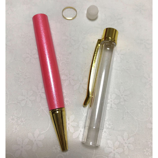 花材のおまけ付き!ハーバリウムボールペン☆ピンク(その他)
