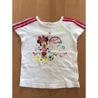 アディダス(adidas)のアディダス&ディズニーコラボ限定Tシャツ 80サッカー 女の子(Tシャツ)