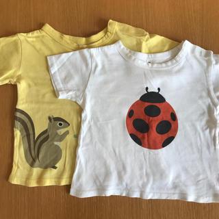 ムジルシリョウヒン(MUJI (無印良品))の【無印良品】2枚セット❗️90サイズ Tシャツ 男女(Tシャツ/カットソー)