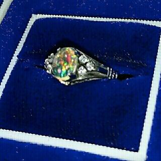 オパールダイヤリング