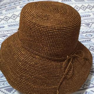 ムジルシリョウヒン(MUJI (無印良品))の無印良品のラフィア帽(天然素材)です。(麦わら帽子/ストローハット)