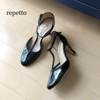 レペット(repetto)の 極美品⭐️repetto /レペット パテントレザー ストラップサンダル (サンダル)