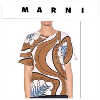 マルニ(Marni)のMARNI☆今期リーフプリントTシャツ 38☆美品☆(Tシャツ(半袖/袖なし))