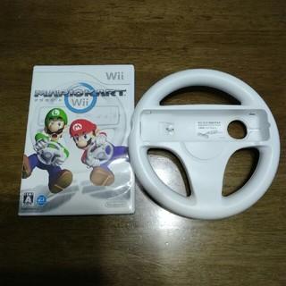 ウィー(Wii)のwii  マリオカート&ハンドル(家庭用ゲームソフト)