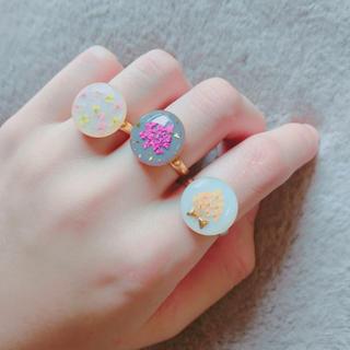 お花のリング三種(リング)