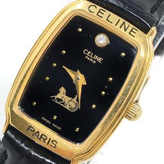 セリーヌ(celine)のセリーヌ 値引き可 CELINE クォーツ 電池交換済 動作品 正規 新品ベルト(腕時計)