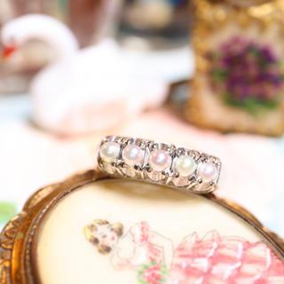 k14❅照り照りあこや真珠の淡雪みたいな指輪⋆アガット クロチェ エテ好きな方(リング(指輪))