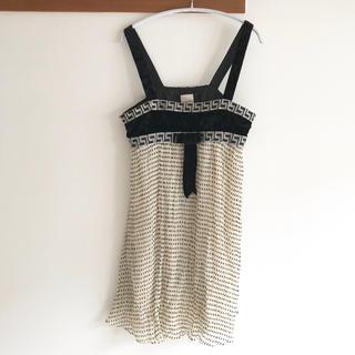 アリスマッコール(alice McCALL)のsass&baid シフォンキャミソールドットチュニックドレス(チュニック)