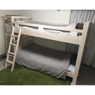 ニトリ(ニトリ)の【yuaasy様専用】ニトリ コンセント付き二段ベッド(ロフトベッド/システムベッド)