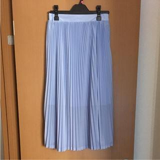 しまむら - しまむら 水色 プリーツスカート