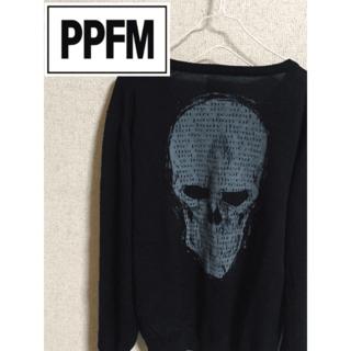 ピーピーエフエム(PPFM)のPPFM サマーニット スカルデザイン バックプリント(ニット/セーター)