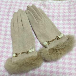 レッセパッセ(LAISSE PASSE)のレッセパッセ♡ファー付グローブ(手袋)