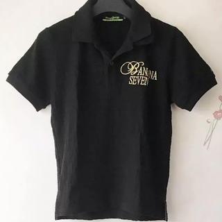 バナナセブン(877*7(BANANA SEVEN))のバナナセブン ポロシャツ 黒(ポロシャツ)