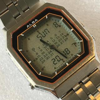 アルバ(ALBA)のSEIKO ALBA セイコー デジアナ 二重面相 クオーツ メンズ腕時計(腕時計(アナログ))