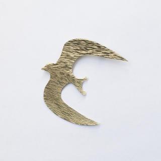 真鍮ブローチ つばめ swallow ハンドメイド オリジナル