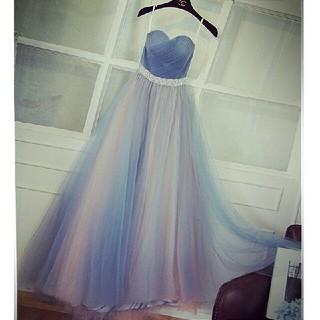 ドレス 結婚式 披露宴 ロング丈ドレス 肩出し パーティードレス コンサート