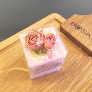mini pink rose cake ※アロマワックスケーキ(アロマ/キャンドル)