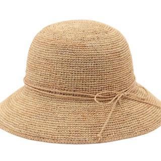 ムジルシリョウヒン(MUJI (無印良品))のMUJI サイズ調整できるラフィアたためるキャペリン (麦わら帽子/ストローハット)