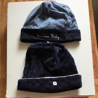 アルマーニ ジュニア(ARMANI JUNIOR)のアルマーニジュニアのbaby帽子SET(帽子)