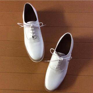 オゥバニスター(AU BANNISTER)のAu bannister レースアップシューズ 白 35 新品(ローファー/革靴)