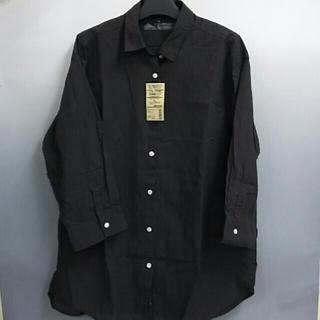 MUJI (無印良品) - 新品 無印良品 オーガニックコットン楊柳 七分袖シャツ・ダークブラウン・XL