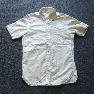 MUJI (無印良品) - 無印 メンズ 半袖 ボタンダウンシャツ アイボリー