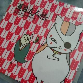 ハクセンシャ(白泉社)の夏目友人帳 ニャンコ先生 メガネクロス 非売品(キャラクターグッズ)
