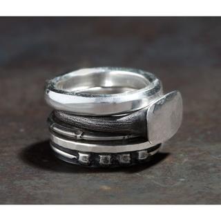 アンドゥムルメステール(Ann Demeulemeester)のワークスタットミュンヘン シルバー 5連 リング Antique shape(リング(指輪))