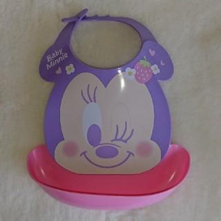 ディズニー(Disney)のお食事エプロン ミニーマウス(お食事エプロン)