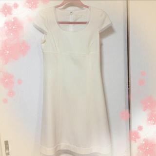 エンジェルアール(AngelR)の白ワンピ&リランドチュールスカート(ひざ丈ワンピース)