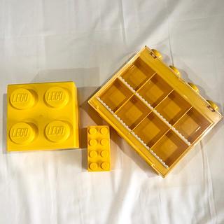 Lego - LEGO ディスプレイケース & ブロック型ケース大小 3点