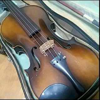 鈴木 バイオリン 日本製 証明ラベル有 No.17 未使用弓、松脂他セット