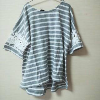 シマムラ(しまむら)の袖レース使いカットソー(カットソー(半袖/袖なし))