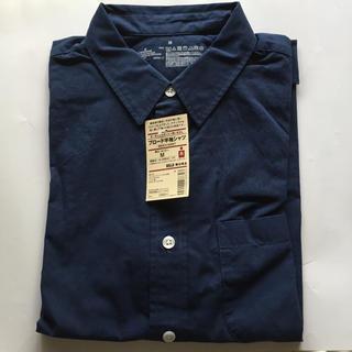 MUJI (無印良品) - オーガニックコットン洗いざらし ブロード半袖シャツ