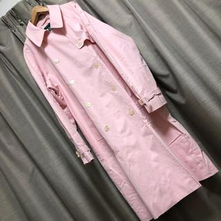 ラルフローレン(Ralph Lauren)のラルフローレン ダブル トレンチ コート ピンク 古着 ビッグ カラフル 韓国(トレンチコート)