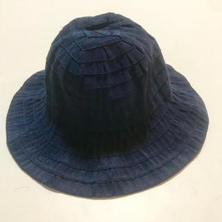 エーキャンビー(A CAN B)のA can B エーキャンビー 帽子 紺色 サイズ48センチ(帽子)