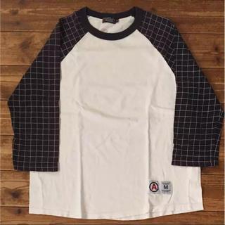 エーエフエフエー(AFFA)のAFFA スパイーダーチェック ラグラン七分袖(Tシャツ/カットソー(七分/長袖))