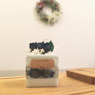 mini blue rose cake ※アロマワックス(アロマ/キャンドル)