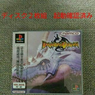 プレイステーション(PlayStation)のPS ドラゴンヴァラー 帯つき! ディスク2枚組 起動確認済み!!(家庭用ゲームソフト)