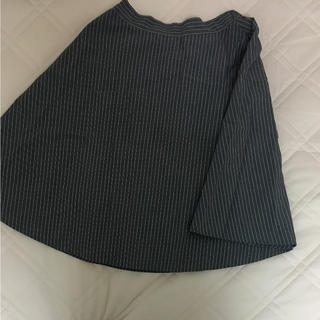アグノスト(AGNOST)の膝丈スカート Aライン ストライプ(ひざ丈スカート)