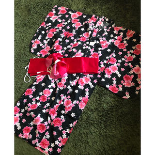しまむら - 浴衣&造り帯セット♬ 130