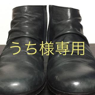 パドローネ(PADRONE)の【更に値下げ】パドローネ ショートブーツ ネイビー サイズ43(ブーツ)