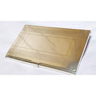 ティファニー(Tiffany & Co.)の正規 ティファニー ミラーストライプシルバー925 カードケース メタル名刺入れ(名刺入れ/定期入れ)